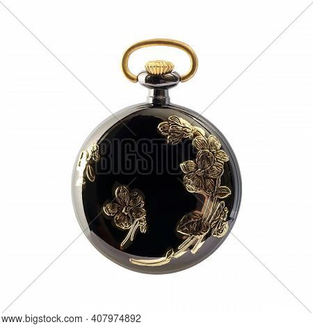Pocket Watch Isolated On A White Background