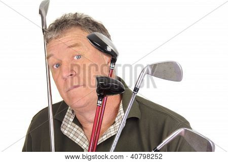 Surprised Golfer