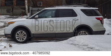 Kazakhstan, Ust-kamenogorsk, March 3, 2020: Ford Explorer. American Car