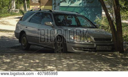Kazakhstan, Ust-kamenogorsk, May 2, 2020: Toyota Mark Ii Qualis (xv20; 1997-2002). Old Japanese Car