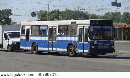 Kazakhstan, Ust-kamenogorsk, June 12, 2020: Volvo B10m Mk 3 / Wiima K202. Old City Bus. Volvo Buses
