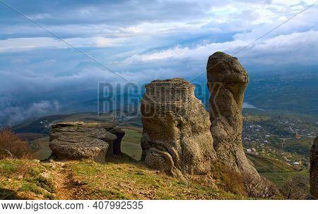 Rocky Mountain View (ghosts Valley Near Demerdzhi Mount, Crimea, Ukraine)