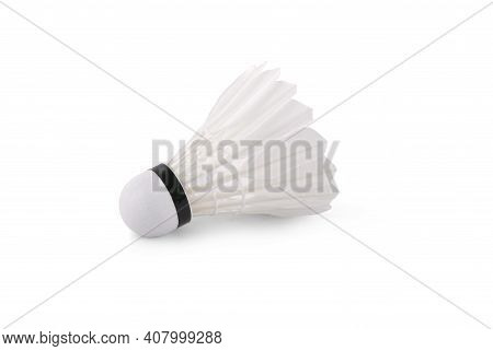 Shuttle Cock Isolated On A White Background