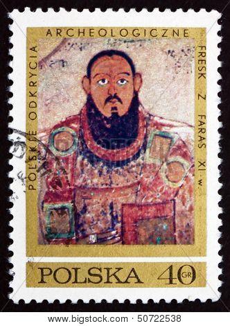 Postage Stamp Poland 1971 Bishop Marianos, Fresco