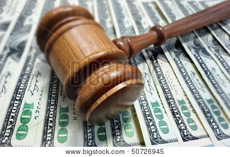 Court Gavel And Money