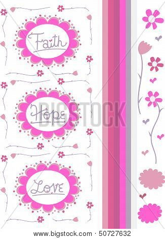 Faith Hope & Love Vector Drawings