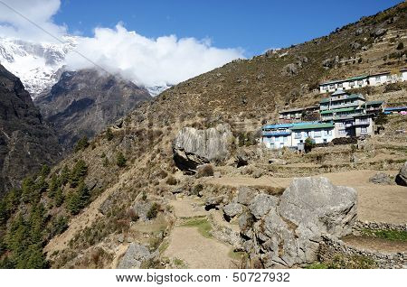 Namche Bazar - Capital Of Sherpas ,sagarmatha Region,Nepal,Asia