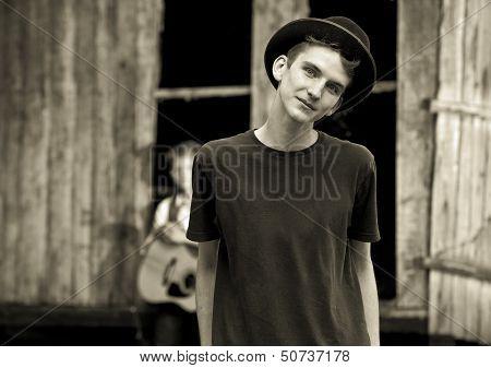 Handsom Teen Boy Portrait