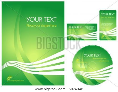 Green Corporate Style Layout