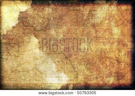 Vintage Colorado Map