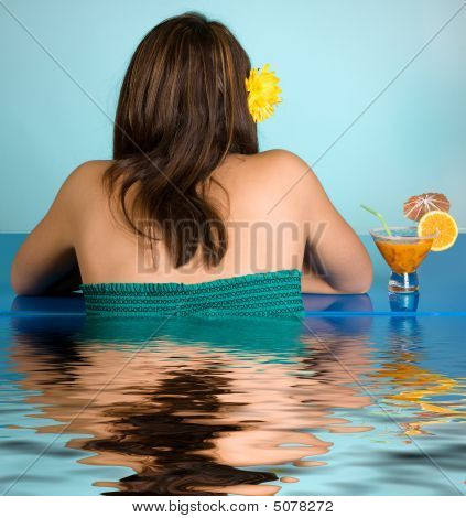 Cocktail In Swimming Pool
