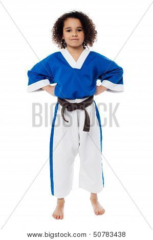 Young Confident Karate Kid Posing