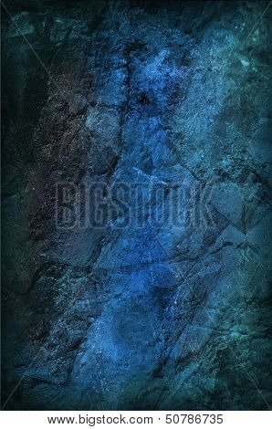 Blue Grungy Stone Background