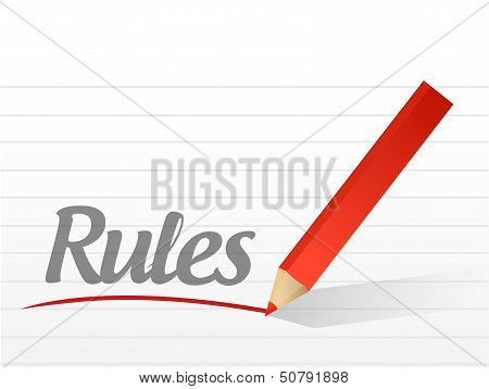 Rules Written On A White Paper