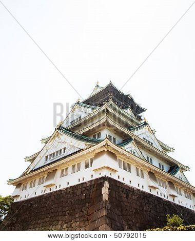 Osaka Castle worm-eye view from the back