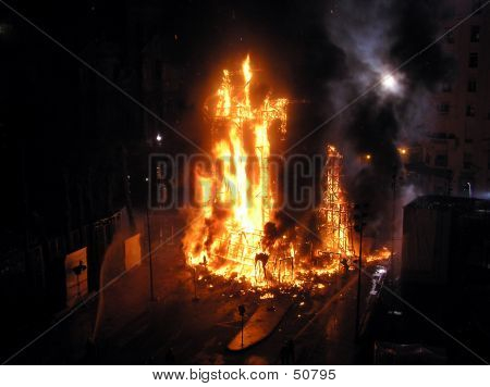 Big Flames On The Square
