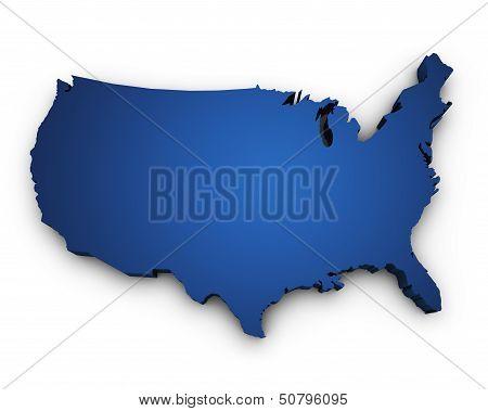 Map Of Usa 3D Shape