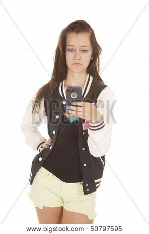 Cell Phone Pout Girl