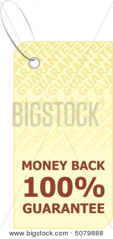 Vector illustration money back labe 100% Guaranteel poster