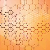 Abstract molecules medical background.Abstract background of the molecular structure. poster
