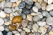 A abstract background with round pebble stones poster