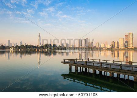 Beautiful Lake In Nanjing