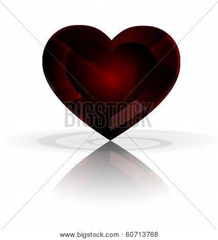 dark heart-crystal