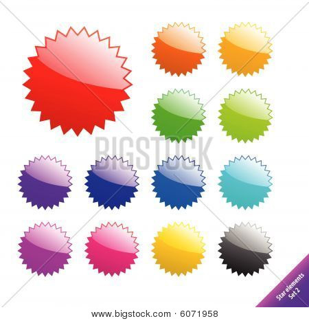 Multicolored glossy web elements. Perfect for text or icons. Vector aqua style.