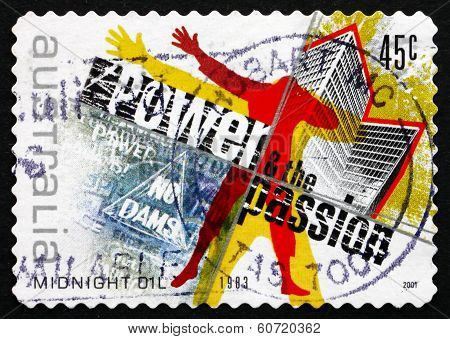Postage Stamp Australia 2001 Power And The Passion