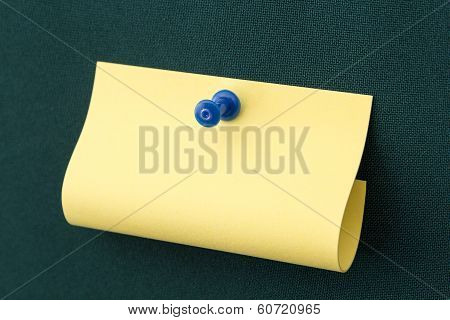 Blank note Blue Pushpin