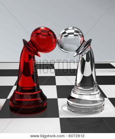 two pawns on the chessboard