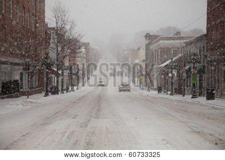 Snow Few Cars