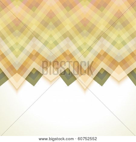 Beige Abstract Retro Vector Background, Fashion Zigzag Pattern of Color Stripes poster