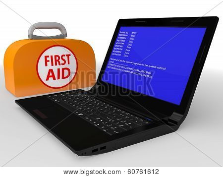 Faulty Computer With System Error