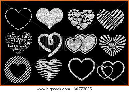 Chalkboard Heart Collection