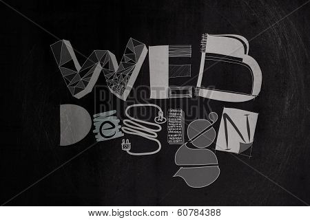 Hand Drawnweb Design On Dark Texture Background As Concept