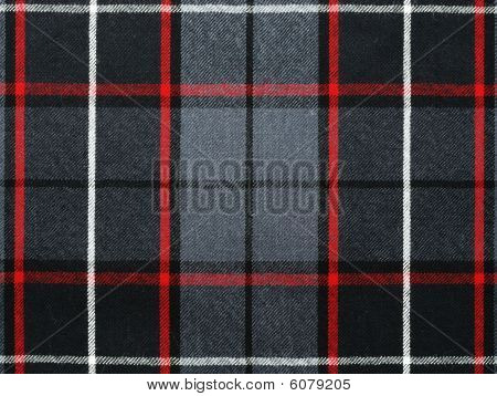Grey Wool Plaid/tartan With Stripe