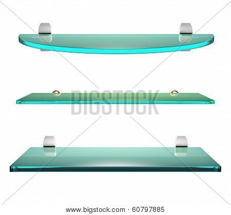 Glass Shelf Set