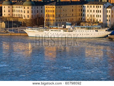 Riddarholmen Stockholm in winter.