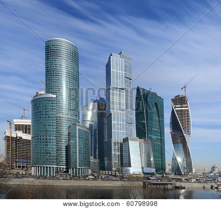View On New Moscow City Buildings