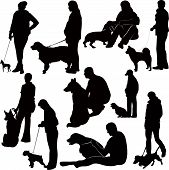 exhibition of dogs animals display a vector it is isolated poster