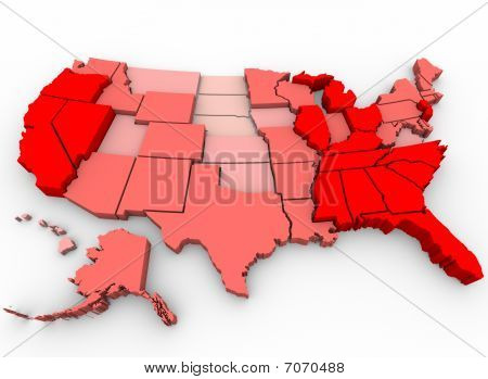Unemployment Rates - United States Map