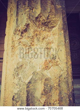 Retro Look Bombed Column In Berlin