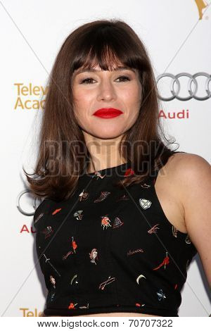 LOS ANGELES - AUG 23:  Yael Stone at the Television Academy's Perfomers Nominee Reception at Pacific Design Center on August 23, 2014 in West Hollywood, CA