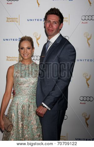 LOS ANGELES - AUG 23:  Joanne Froggatt, James Cannon at the Television Academy's Perfomers Nominee Reception at Pacific Design Center on August 23, 2014 in West Hollywood, CA
