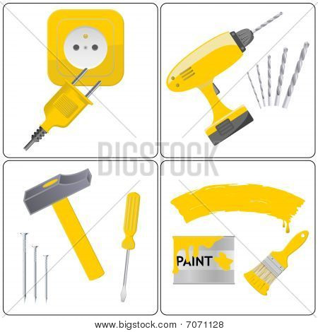 Household repair icons