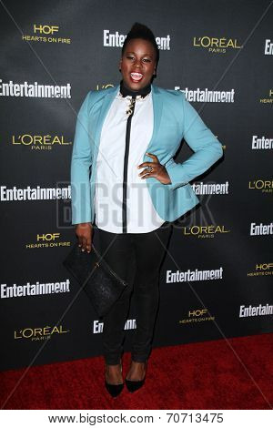 LOS ANGELES - AUG 23:  Alex Newell at the 2014 Entertainment Weekly Pre-Emmy Party at Fig & Olive on August 23, 2014 in West Hollywood, CA