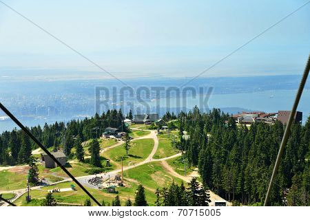 View of Grouse Mountain Vancouver from a Chair Lift