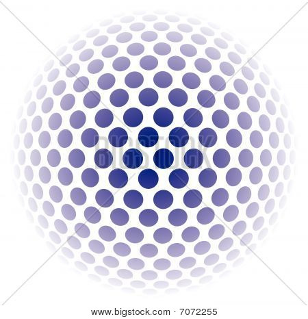 ball background  abstract mosaic 3D