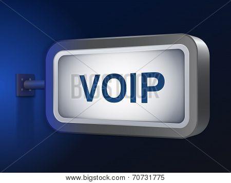 Voip Word On Billboard